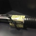 Etuis Armes à feu  Holster Kydex pour fusil cal .12 avec cordelette (Bi couleurs) (OWB)