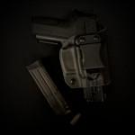 Etuis Armes à feu  Holster Kydex INSIDER GARROT avec Surcouche Cuir (IWB)