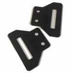 "- The Fasteners  Pair Of Wings Adjustable TRB In Kydex For Belt (2 ""-5cm) (OWB)"