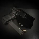 Etuis Armes à feu  Holster Kydex INSIDER LAMPE avec Surcouche Velour - Daim (IWB)