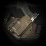 Etuis Armes à feu  Holster Kydex / Cuir / Feutrine INSIDER LAMPE HYBRIDE (IWB)