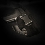 Guns Holsters  Holster Kydex INSIDER CARRY  avec Surcouche Velour - Daim (IWB)