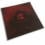 Choice of Holster Colors  Kydex Red / Black Worn - Spartan Helmet and Molon Labe