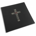 Choice of Holster Colors  Kydex Black / Metal - Cross The Lord Is My Shepherd (bluish gray background)