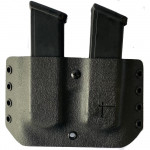 Firearms Magazines Carriers  Double MAG-PISTOL Stacked en Kydex